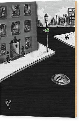 Zig Zag City Wood Print by Russell Pierce