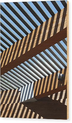Zig Zag Shadows Wood Print