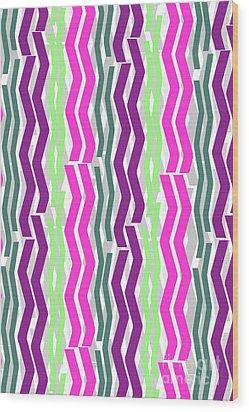Zig Zig Stripes Wood Print