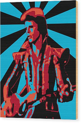 Ziggy Played Guitar Wood Print by Lance Vaughn