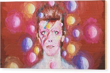 Ziggy Stardust  Wood Print by Louis Ferreira