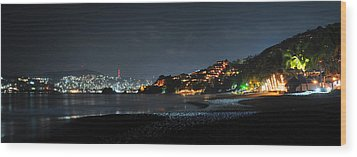 Wood Print featuring the photograph Zihuatanejo, Mexico by Jim Walls PhotoArtist