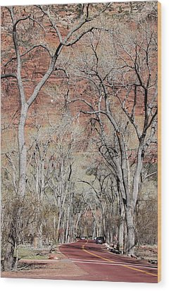 Zion At Kayenta Trail Wood Print by Viktor Savchenko