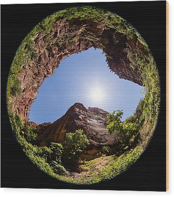 Zion Fisheye 1464 Wood Print