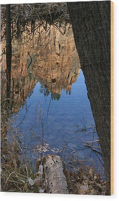 Zion Reflections Wood Print
