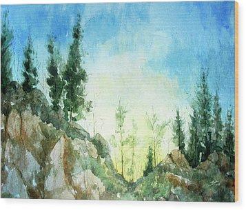 Zion Wood Print by Stephen Boyle