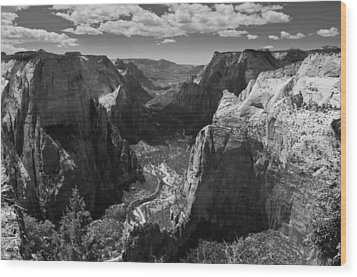 Zion Valley From Observation Point Wood Print by Steven Wilson