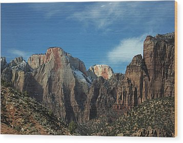 Zion's Rock Towers Wood Print