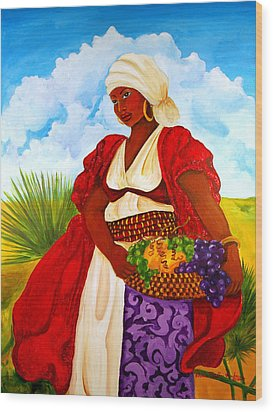 Zipporah Wood Print by Diane Britton Dunham