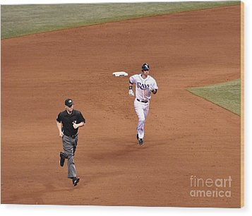 Zobrist On The Run Wood Print by John Black