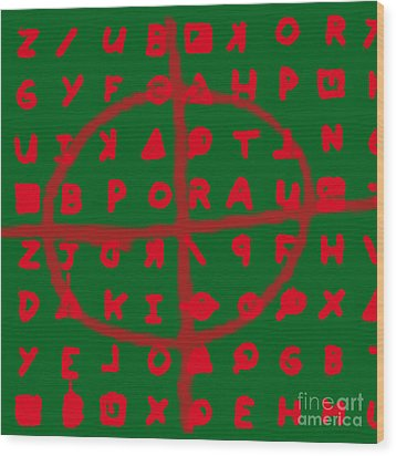 Zodiac Killer Code And Sign 20130213 Wood Print by Wingsdomain Art and Photography