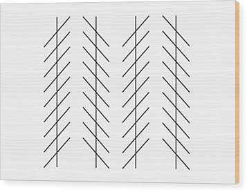 Zoellner Illusion Wood Print by