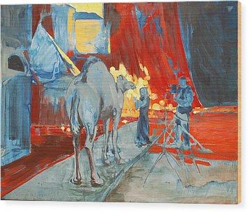 Zohan Camel Wood Print by Amy Bernays