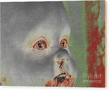 Zombie Baby Three Wood Print