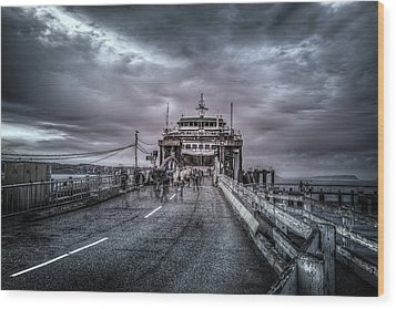 Wood Print featuring the photograph Zombie Ferry Ride by Spencer McDonald