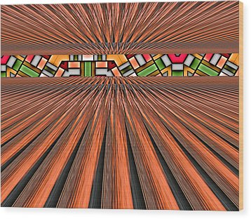 Zoned Wood Print by Wendy J St Christopher
