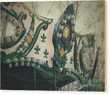 Zoo Carousel Ma Wood Print