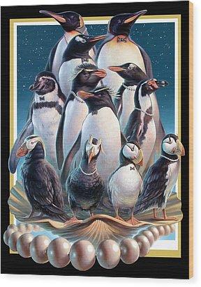 Zoofari Poster 2004 The Penguins Wood Print