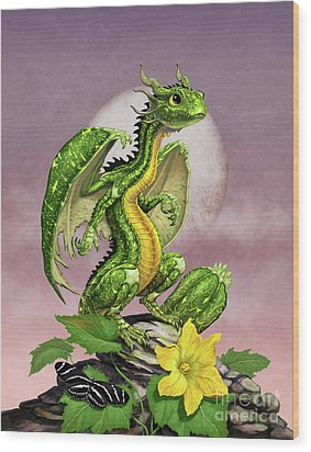Zucchini Dragon Wood Print by Stanley Morrison