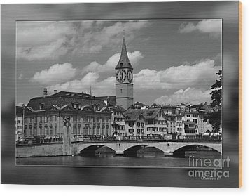 Zuerich Wood Print by Bruno Santoro