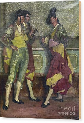 Zuloaga: Bullfighters Wood Print by Granger