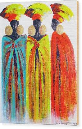 Zulu Ladies Wood Print