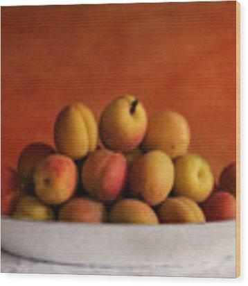 Apricot Delight Wood Print