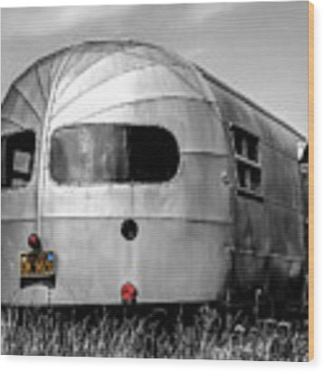 Classic Airstream Caravan Wood Print