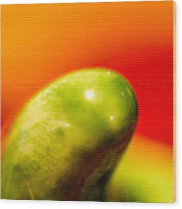 Green Red Liquid Clay Wood Print by Willard Killough III