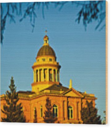 Historic Auburn Courthouse 14 Wood Print by Sherri Meyer