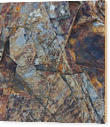 Rock Geometry Wood Print by Julian Perry