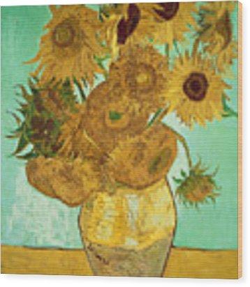 Sunflowers By Van Gogh Wood Print by Vincent Van Gogh