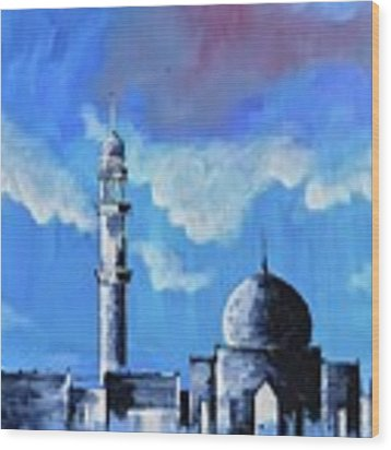 The Mosque Wood Print by Nizar MacNojia