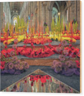 Ely Cathedral Flower Festival Wood Print by James Billings