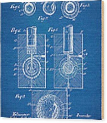 1902 Golf Ball Patent Artwork - Blueprint Wood Print