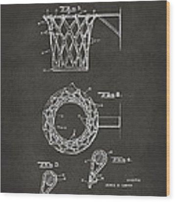 1951 Basketball Net Patent Artwork - Gray Wood Print