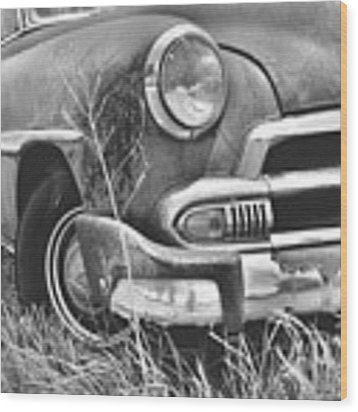 1951 Chevrolet Power Glide Black And White 2 Wood Print by Lisa Wooten