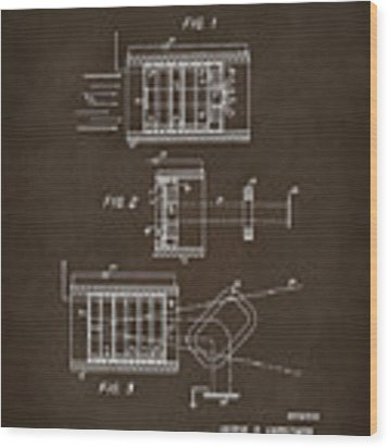 1969 Short Wave Electromagnetic Radiation Patent Espresso Wood Print by Nikki Marie Smith