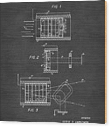 1969 Short Wave Electromagnetic Radiation Patent Gray Wood Print by Nikki Marie Smith