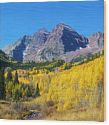 The Maroon Bells Wood Print by Kate Avery