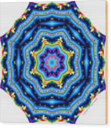 6 To 60 Kaleidoscope Wood Print by Brian Gryphon
