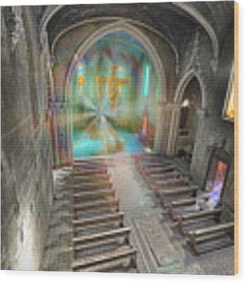 Abandoned Blue Church II - Chiesa Blu Abbandonata II Wood Print by Enrico Pelos