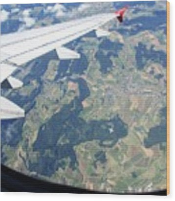 Air Berlin Over Switzerland Wood Print by Travel Pics