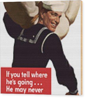 American Sailor -- Ww2 Propaganda Wood Print