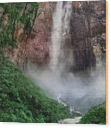 Angel Falls Canaima National Park Venezuela Wood Print by Dave Welling