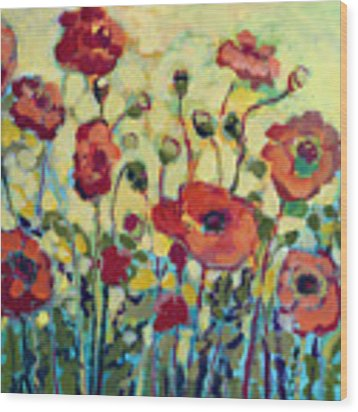 Anitas Poppies Wood Print