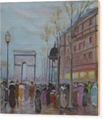 Arc De Triompfe - Lmj Wood Print by Ruth Kamenev