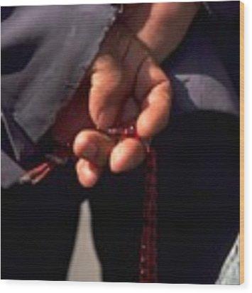 Armenian Prayer Beads Wood Print by Travel Pics