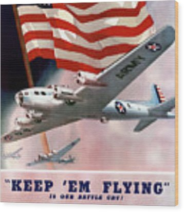 Army Air Corps Recruiting Poster Wood Print by War Is Hell Store