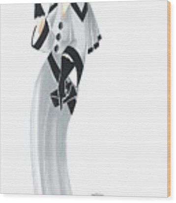 Art Deco Lady - Margaret And Snowflake Wood Print by Di Kaye
